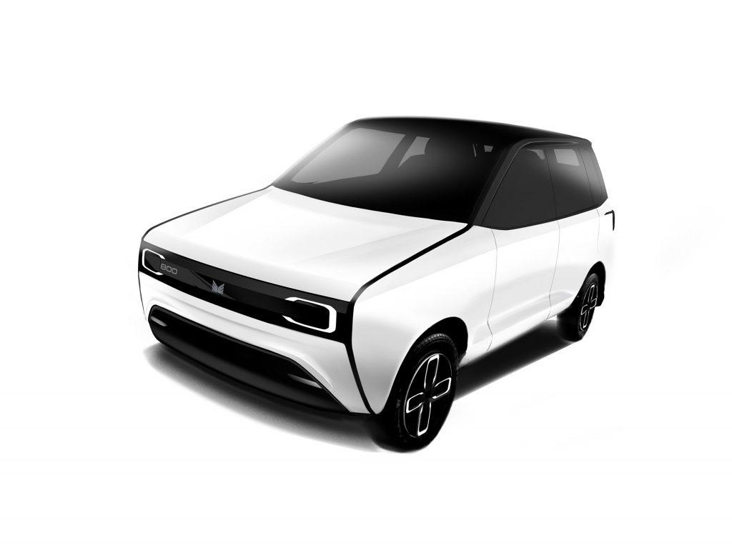 Maruti 800EV Black and White front view 01