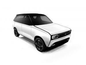 Maruti 800EV Black and White front view 02