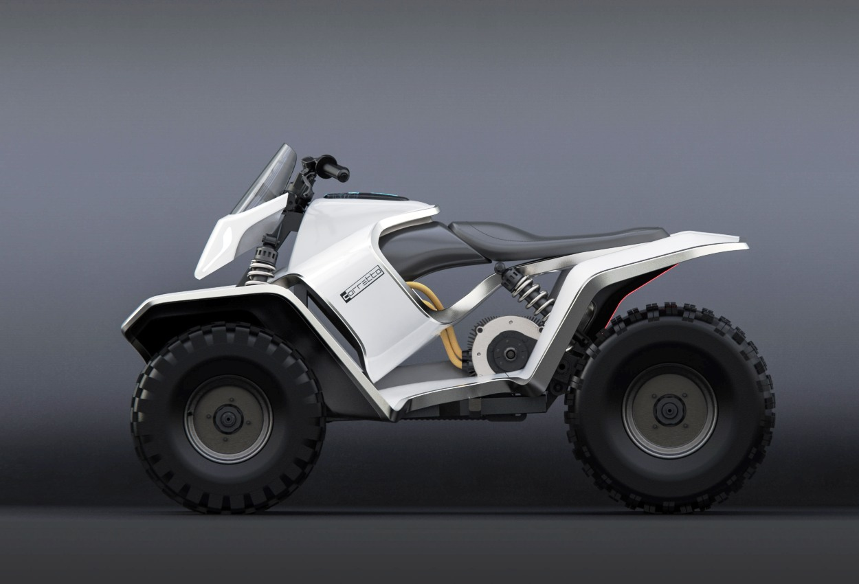 Max Betteridge Corretto electric ATV inspired by the Tesla Cyberquad