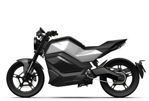 Niu RQi electric motorcycle side view