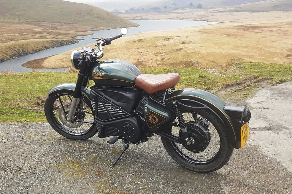 Royal Enfield Bullet Photon Electric rear three quarter view