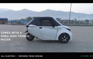 Strom R3 electric car side