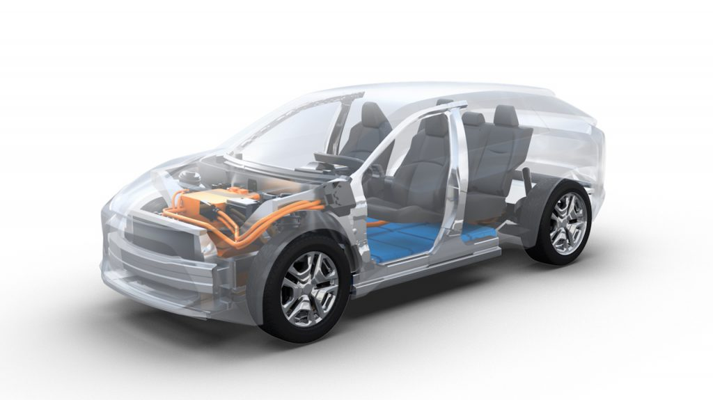 Subaru Electric Car platform developed jointly with Toyota
