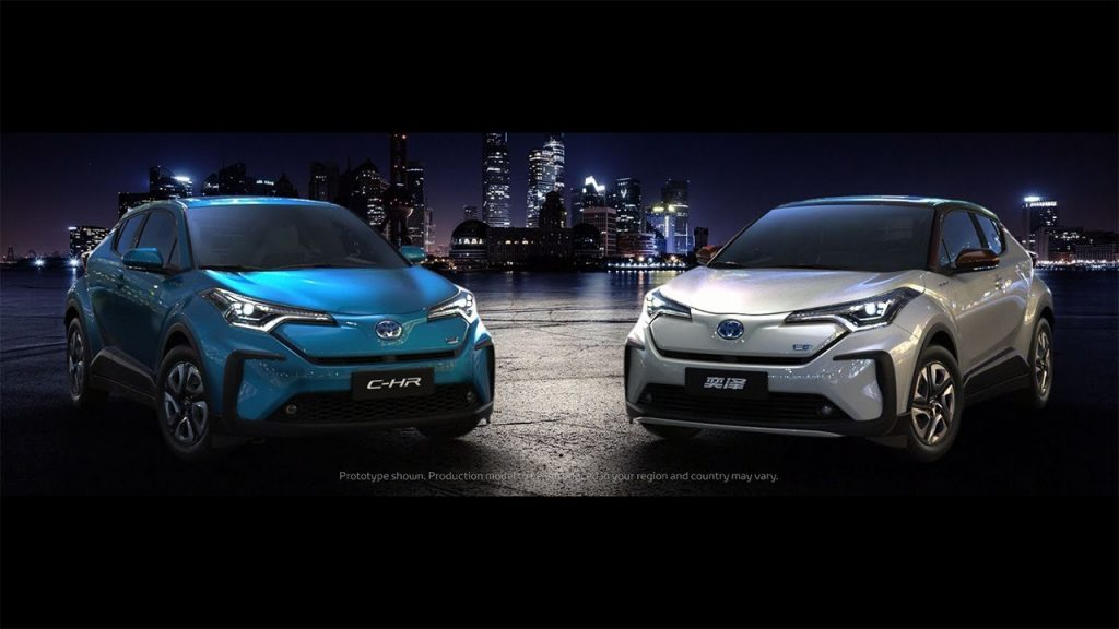 Toyota C-HR electric and Toyota Izoa electric