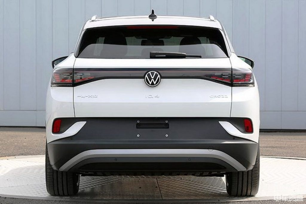 VW-ID4 White rear view