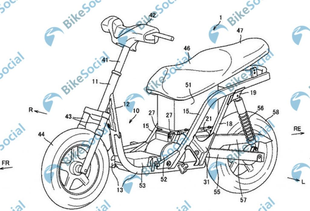suzuki electric scooter patent image