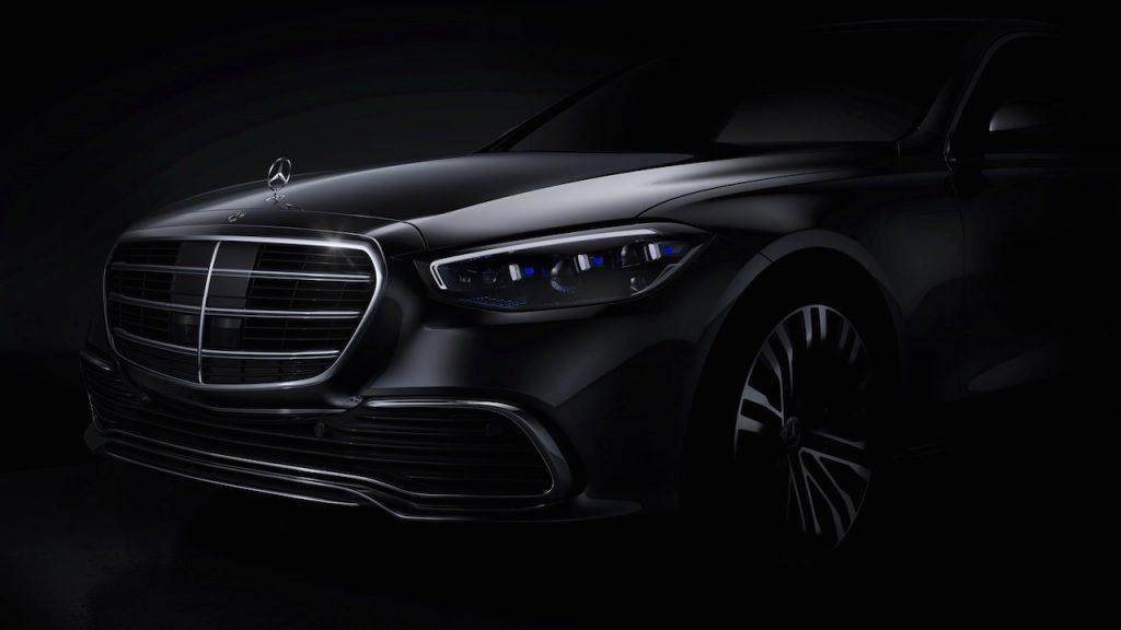 2021 Mercedes S-Class front teaser