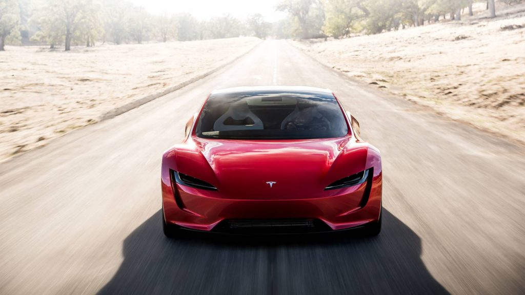 2022 Tesla Roadster front press image
