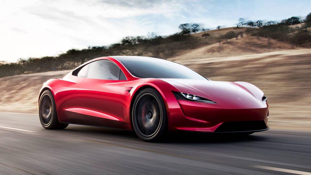 2022 Tesla Roadster front three quarter press image