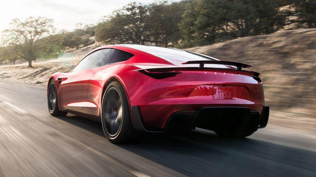 2022 Tesla Roadster rear three quarter press image