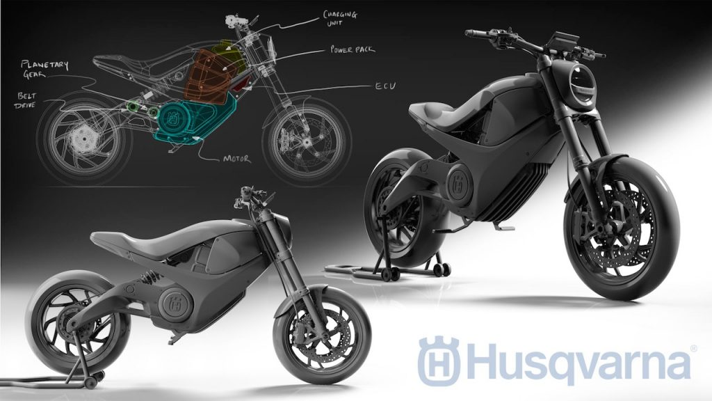 Amol Husqvarna electric motorcycle Nova design sketches automotive