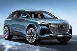 Audi Q4 e-tron Concept front three quarter view