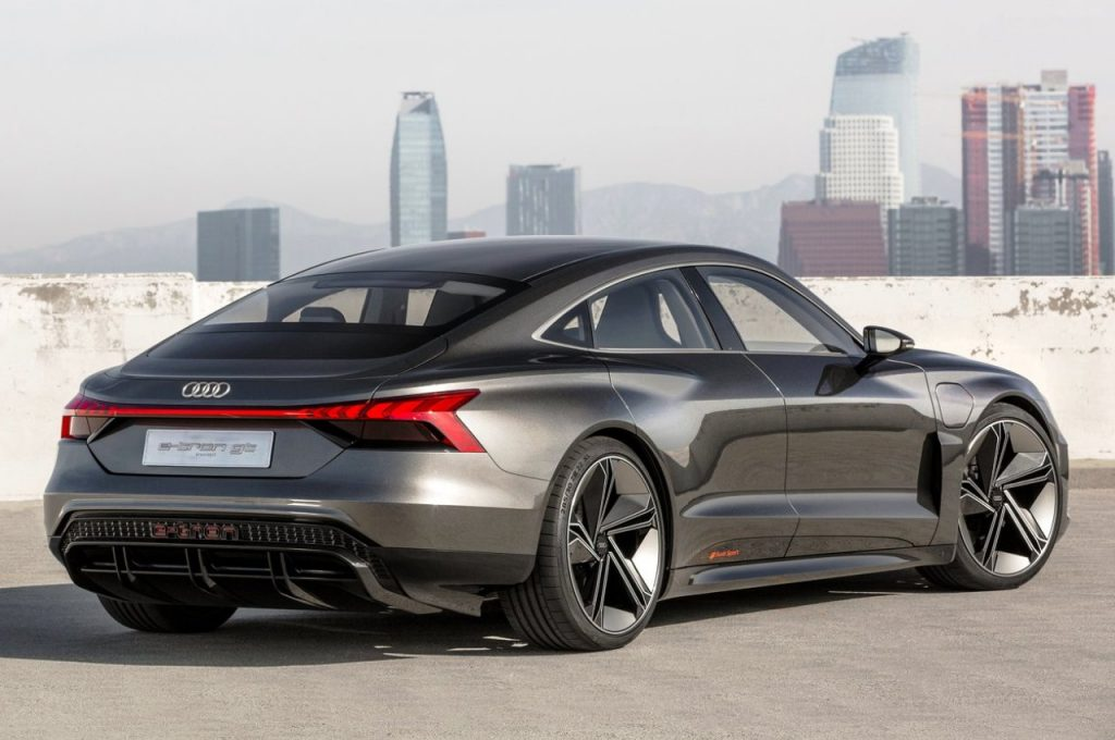 Audi e-tron GT Concept rear three quarter view