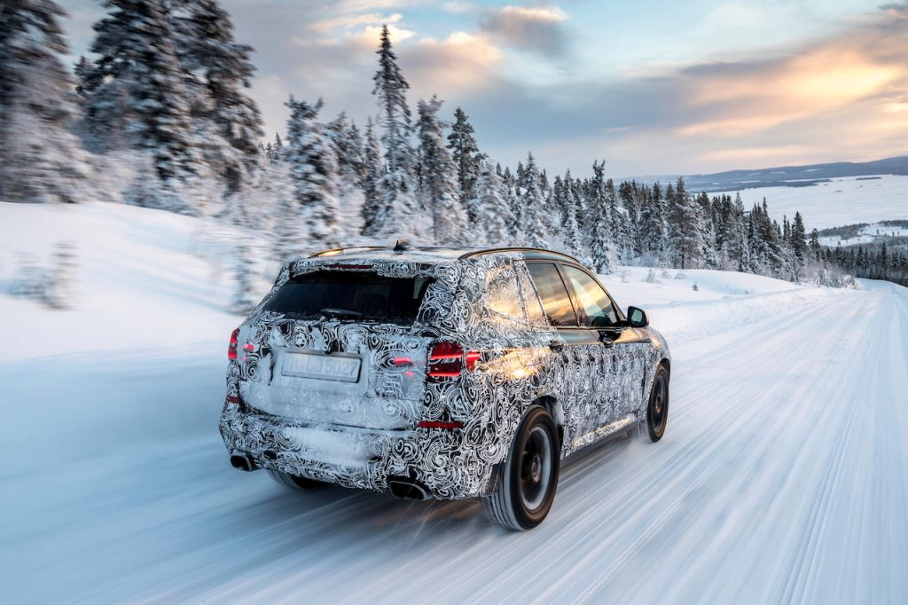 BMW X3 testing in the Arctic Circle