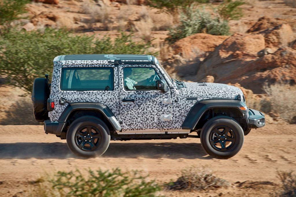 FCA hot weather testing desert Jeep