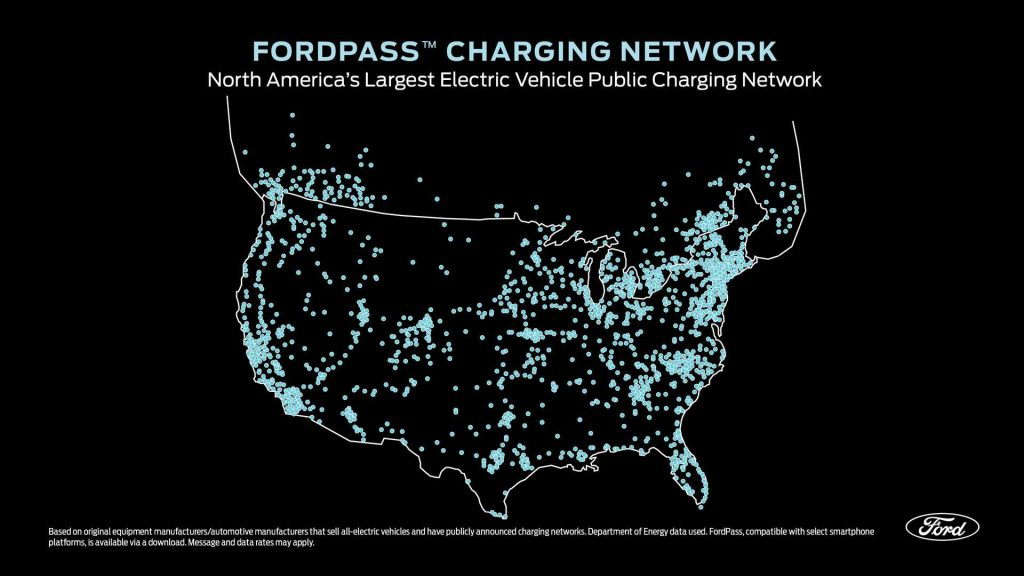 FordPass Charging Network Map USA