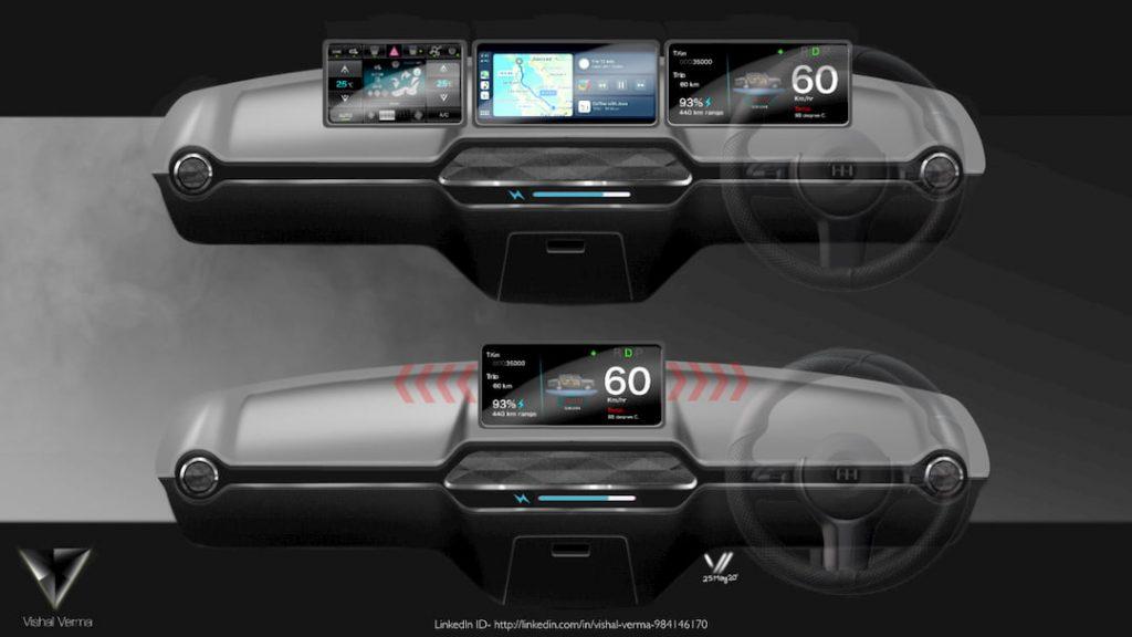 HM Ambassador Electric Vehicle concept dashboard