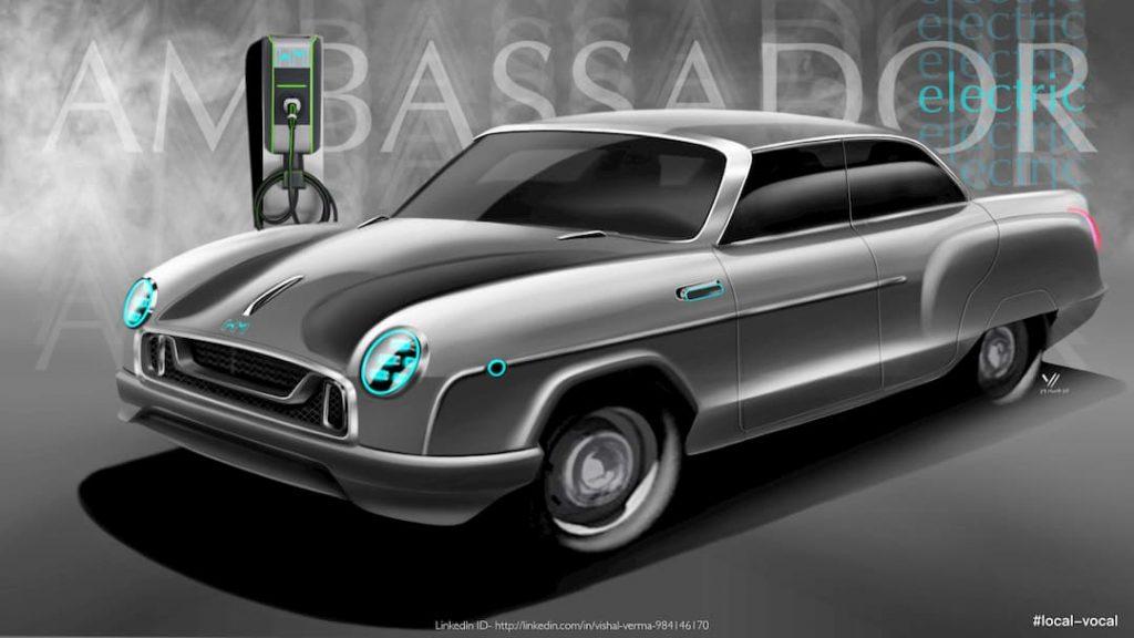 HM Ambassador Electric Vehicle concept front