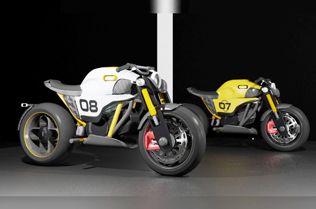 Halo Project electric motorcycle naked versions