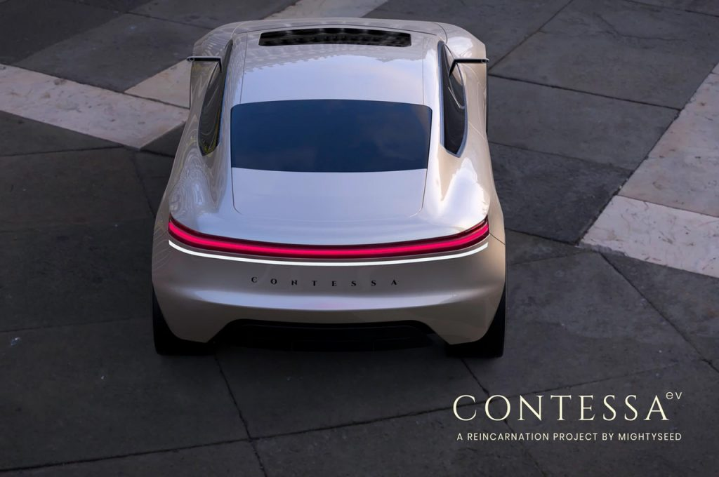 Hindustan Contessa EV by Mightyseed rear view