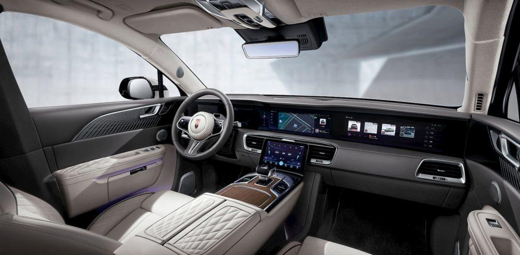 Hongqi E-HS9 dashboard Chinese Rolls Royce