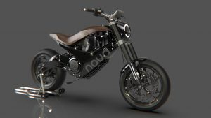 Husqvarna Nova electric motorcycle concept side view