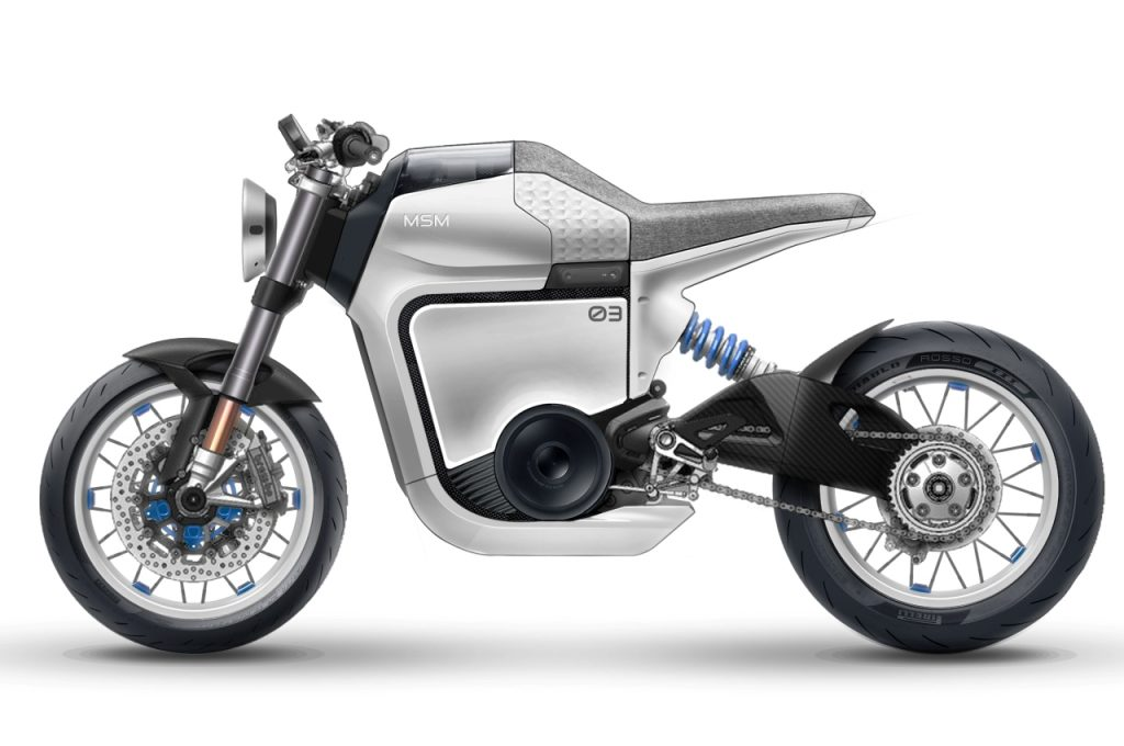 Husqvarna Vitpilen electric render design proposal