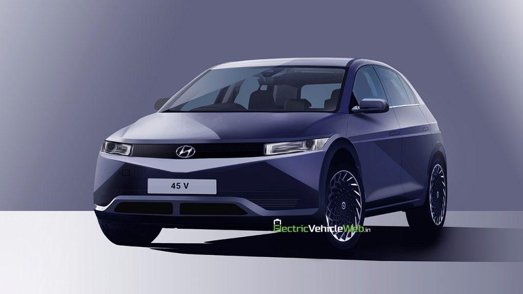 Hyundai 45-based Electric Vehicle Pony-inspired render