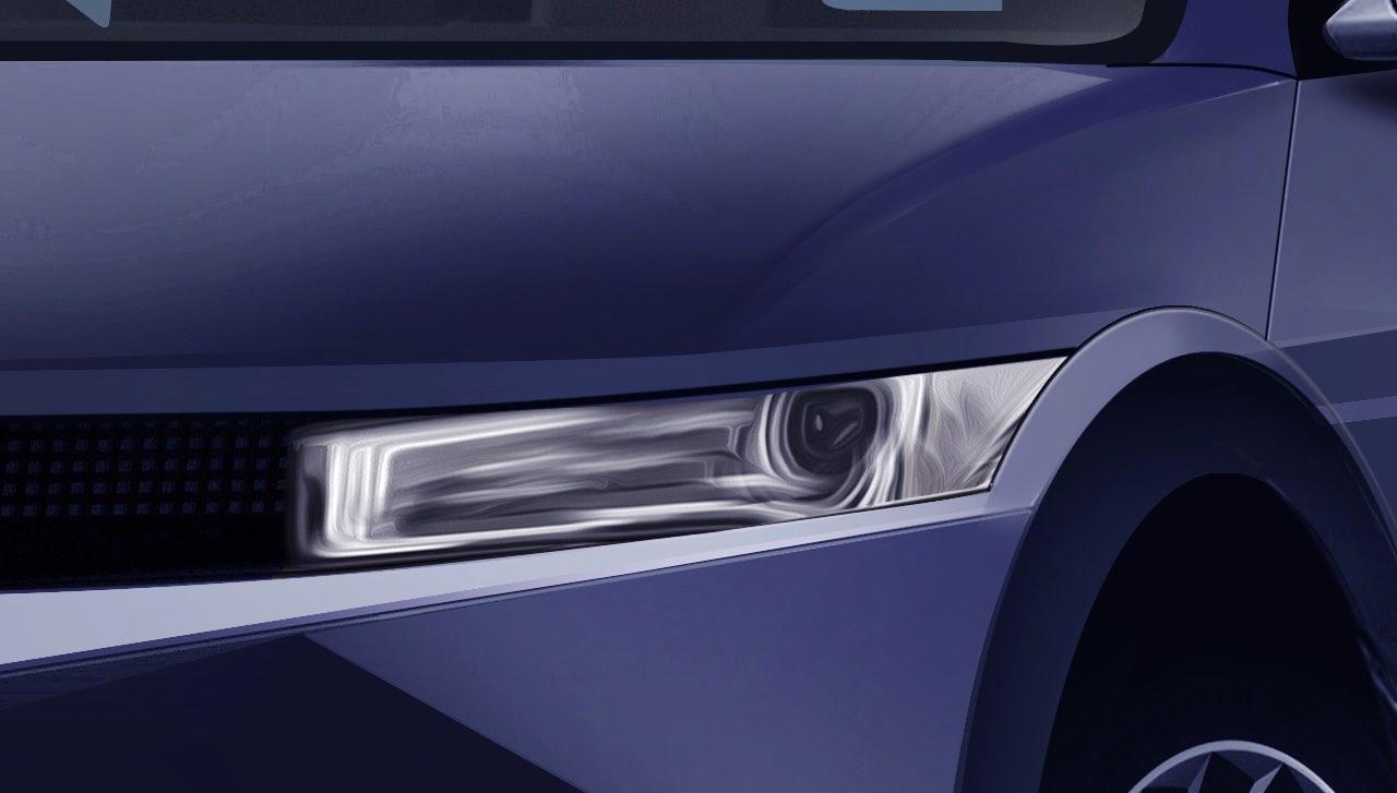 Hyundai 45 based electric headlight render