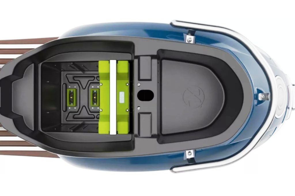 Kumpan Electric 54 Inspire electric scooter underseat battery