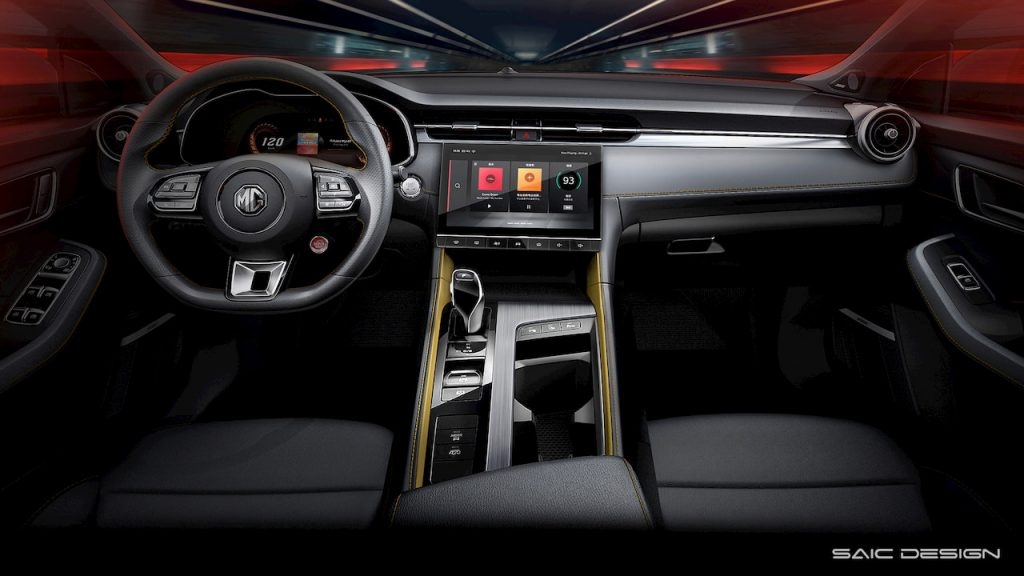 MG6 2020 facelift interior render