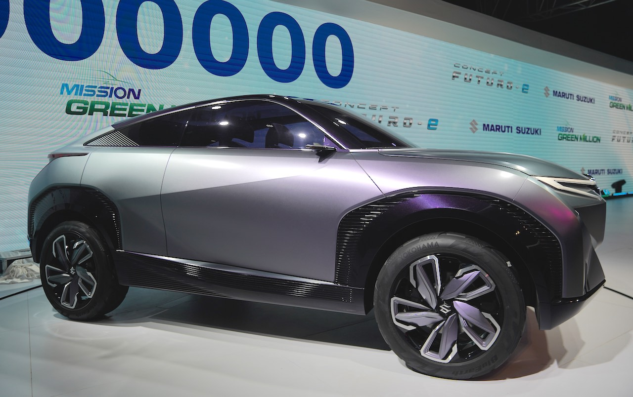 Maruti Suzuki Futuro-E side view electric crossover SUV