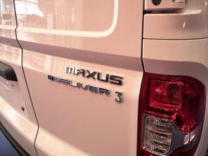 Maxus E Deliver 3 electric van badge