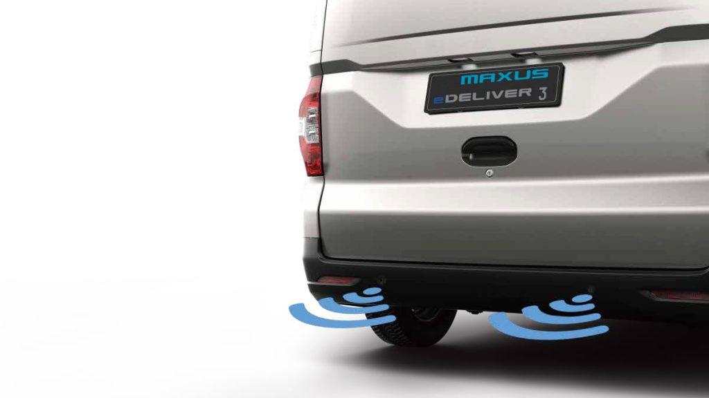 Maxus E Deliver 3 electric van parking sensors