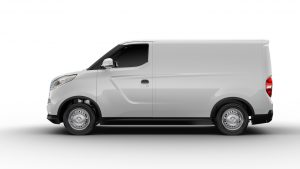 Maxus E Deliver 3 electric van side view