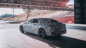 Mercedes EQS official teaser image side