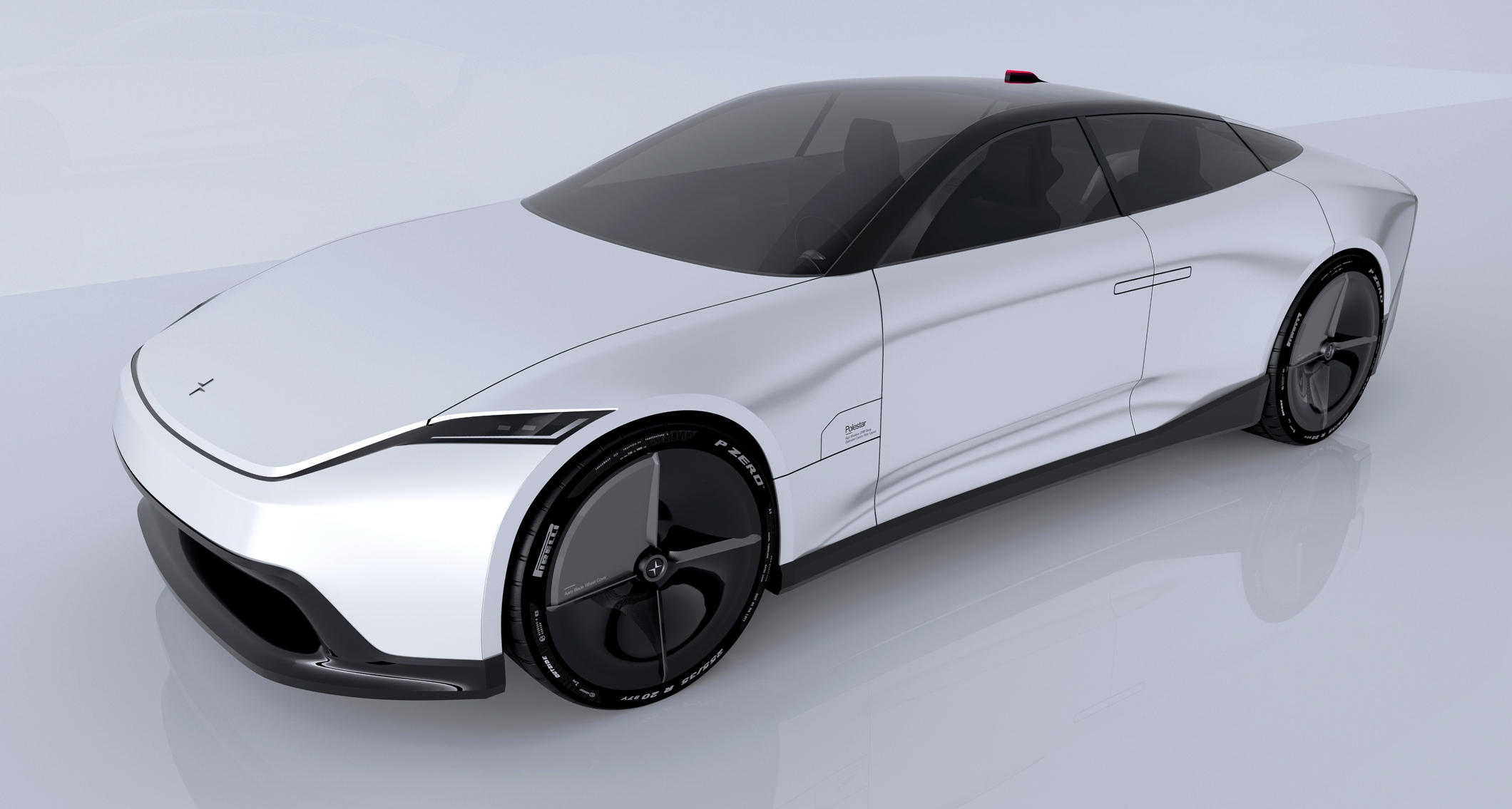 Polestar 7 Concept rendering front three quarter view