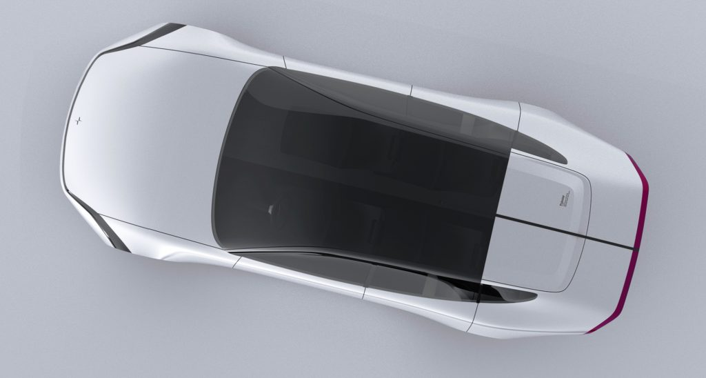Polestar 7 Concept rendering top view