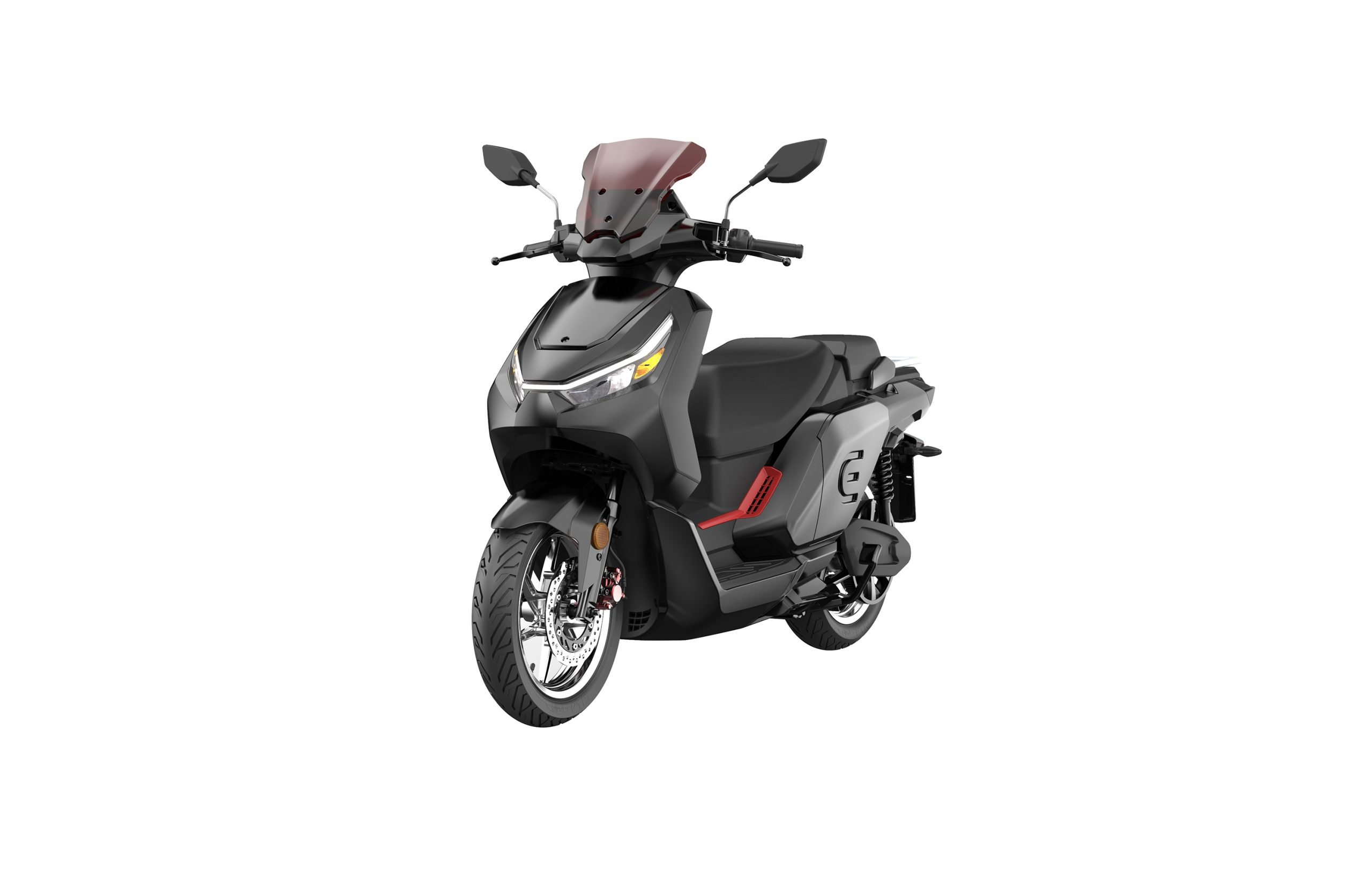 RedE 2GO electric scooter front three quarter view