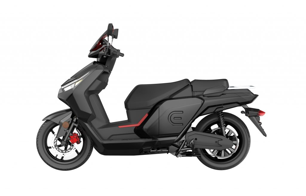 RedE 2GO electric scooter side view
