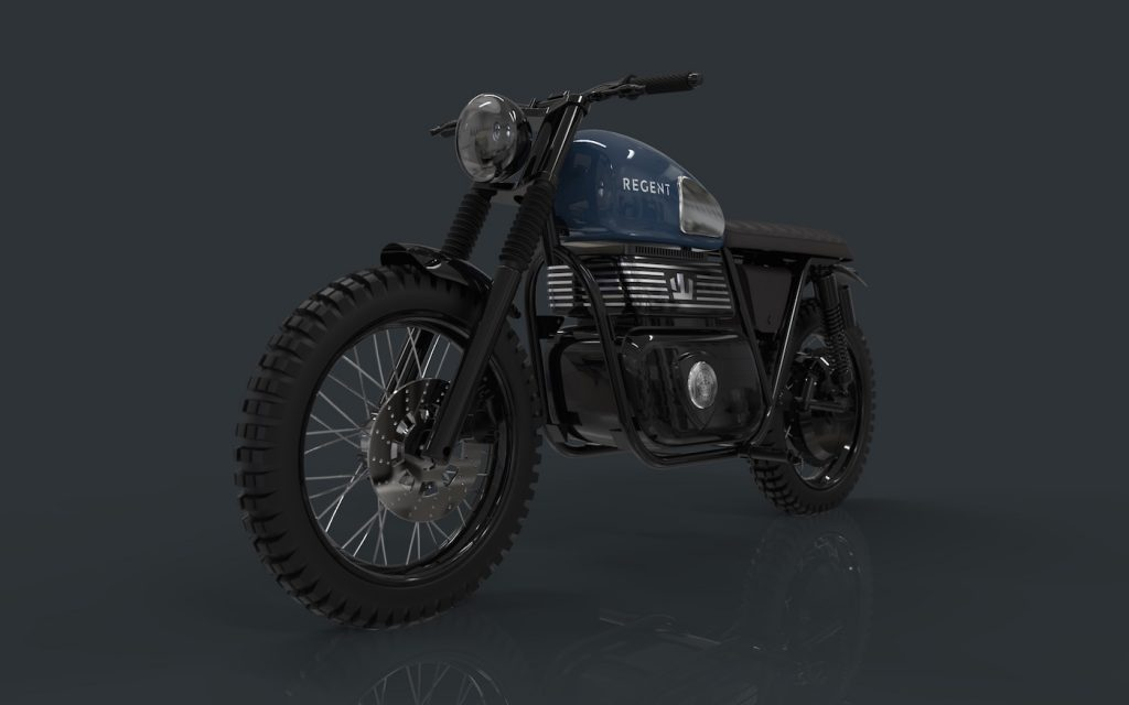Regent Electric Motorcycle Kismo front