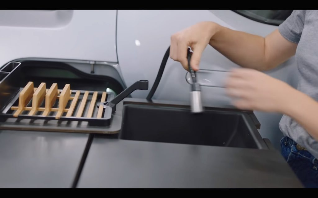 Rivian R1T kitchen sink