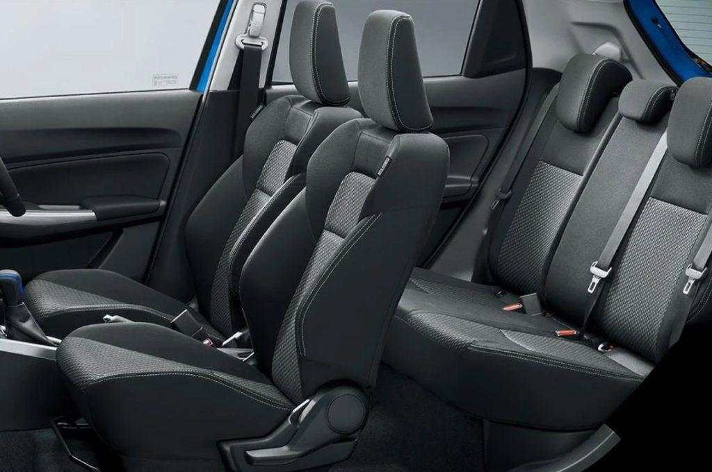 Suzuki Swift SZ Hybrid facelift seats