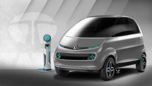 Tata iNano EV Concept front three quarter view