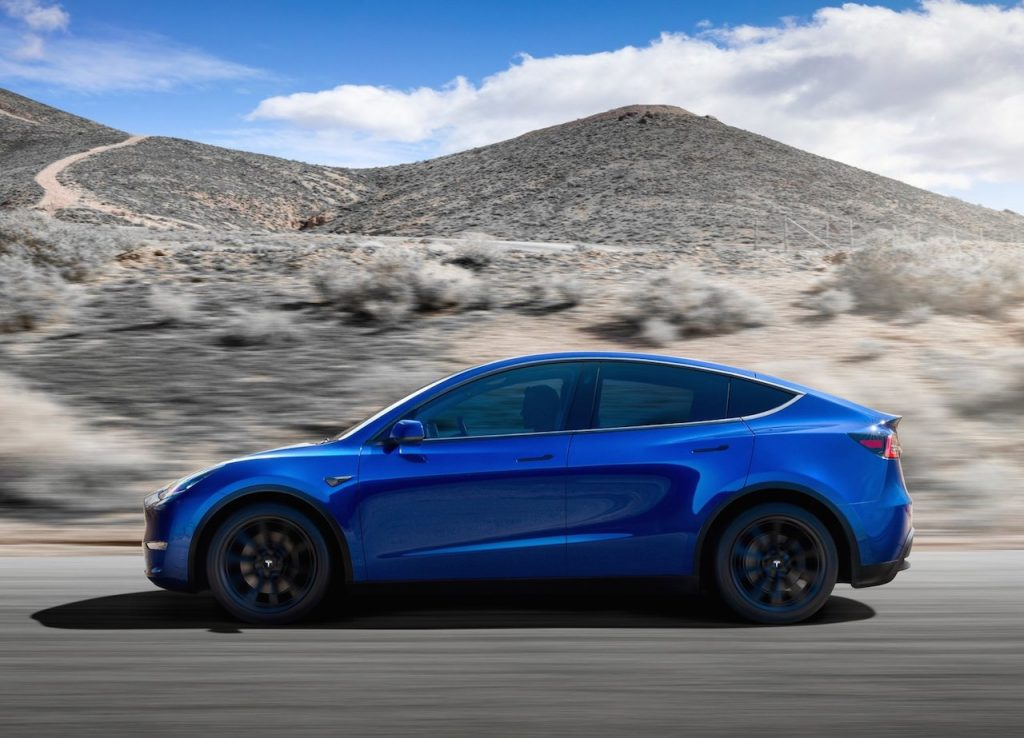 Tesla Model Y side view press image