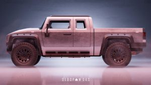 Thor electric pickup truck side view