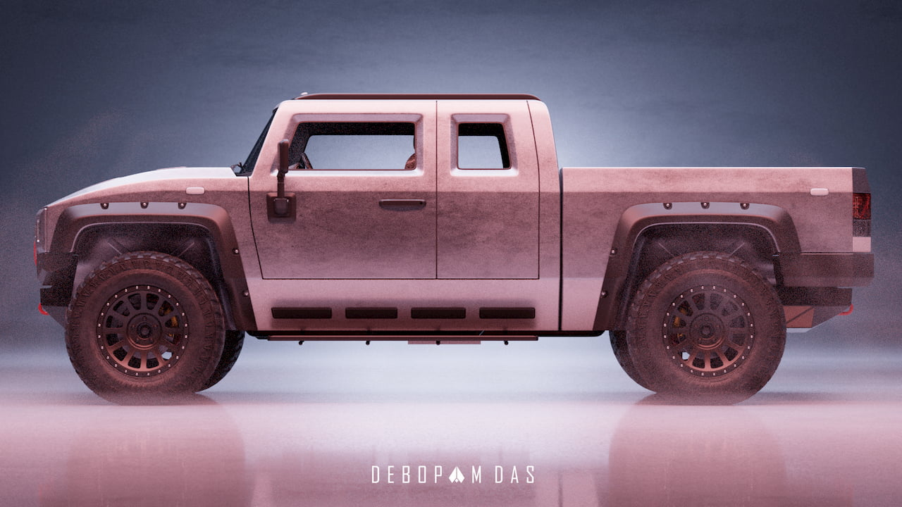 Thor electric pickup truck side