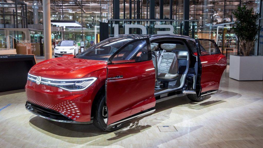 VW ID. Roomzz doors Gläserne Manufaktur Dresden EVW