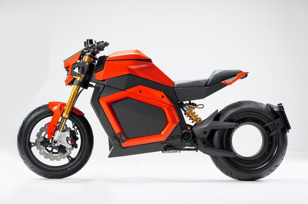 Verge TS electric motorcycle side view