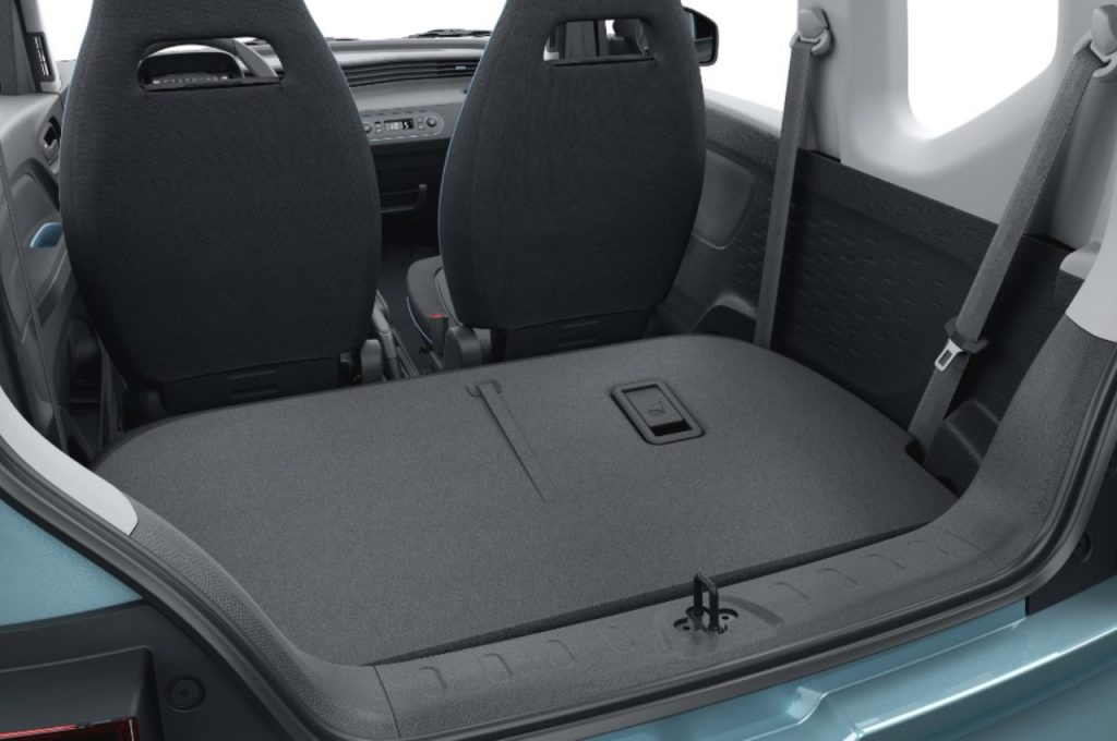 Wuling Mini EV rear seats folded